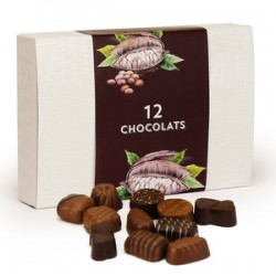 Assortiment de chocolats noir & lait (125g)