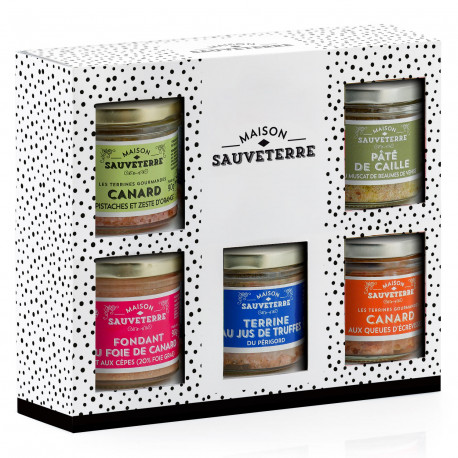 Assortiment de 5 terrines du Sud-Ouest