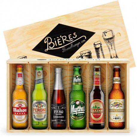 """Caisse de 6 bières """"Tour du monde"""""""