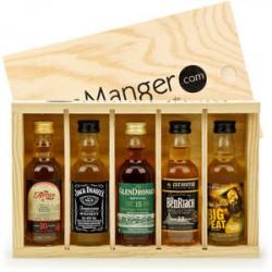 Coffret découverte whisky 5 mignonettes 5cl