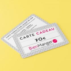 Carte cadeau BienManger.com 70 Eur