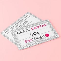 Carte cadeau BienManger.com 40 Eur